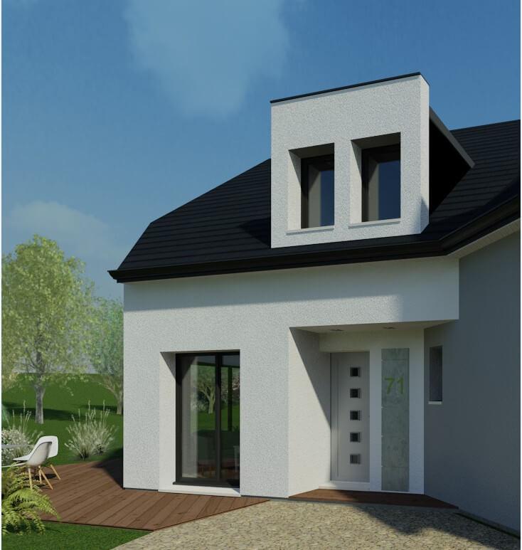 Rendu 2 de la maison individuelle Habitat Concept 71