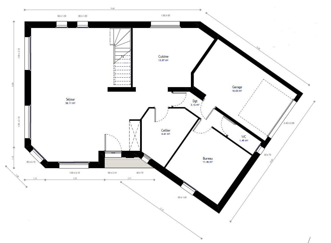 Plan maison individuelle 4 chambres 71 habitat concept for Modification de plan de maison