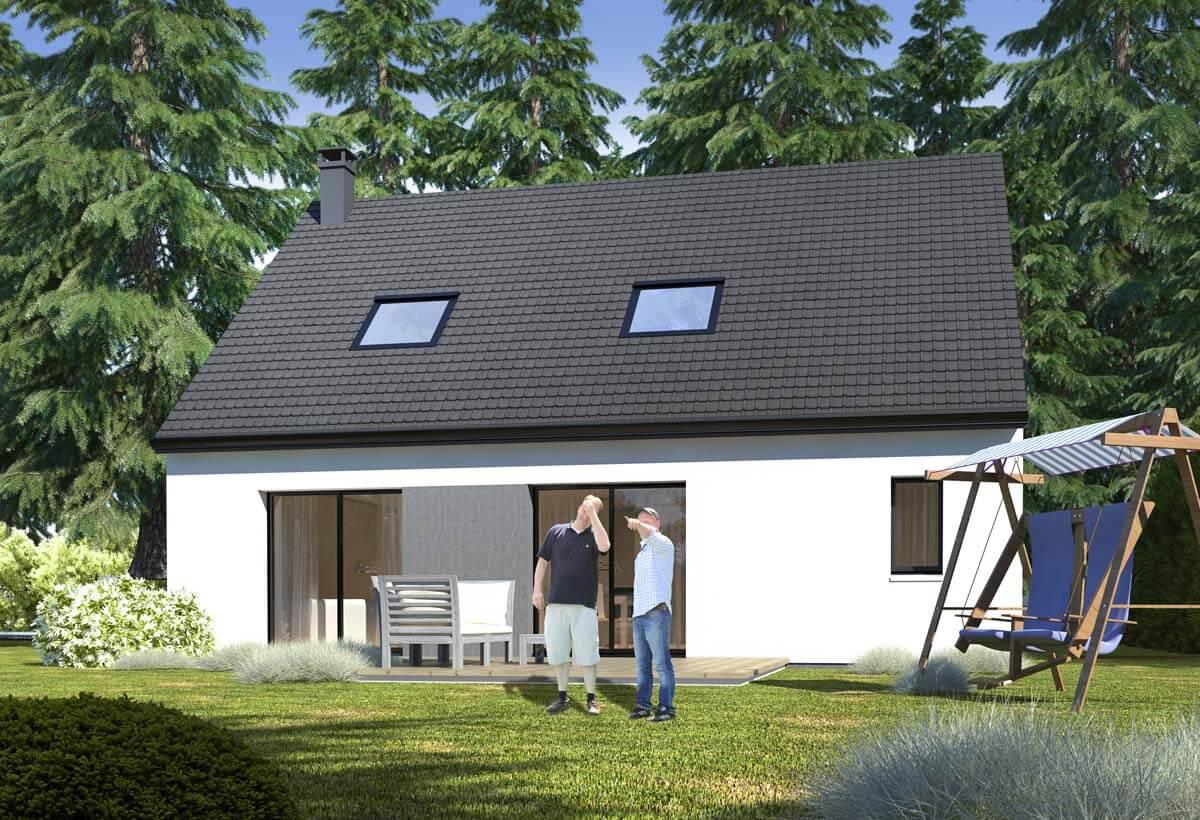 Plan maison 3 chambres Lesmaisons.com 72