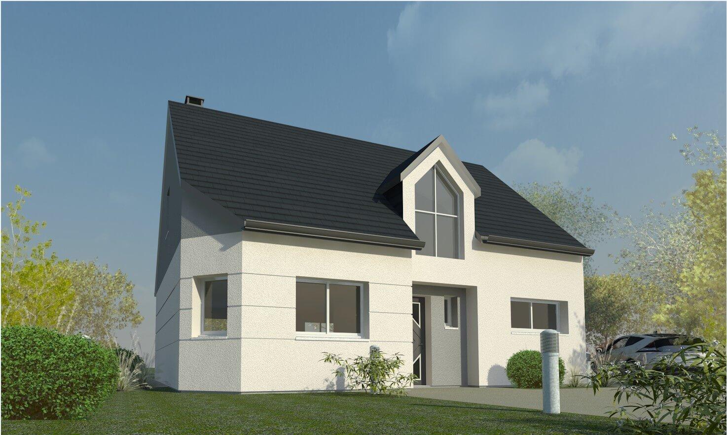 Plan maison 3 chambres Résidence Picarde 74