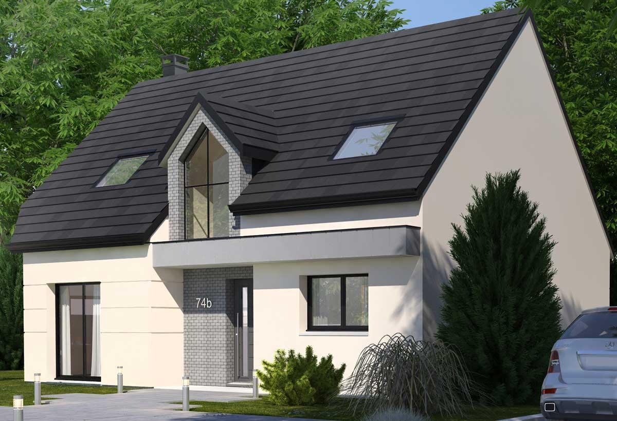 Rendu 1 de la maison individuelle Habitat Concept 74b