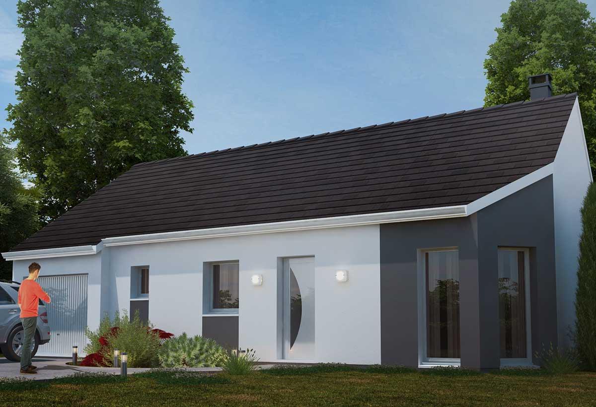 Plan maison 3 chambres HC 75