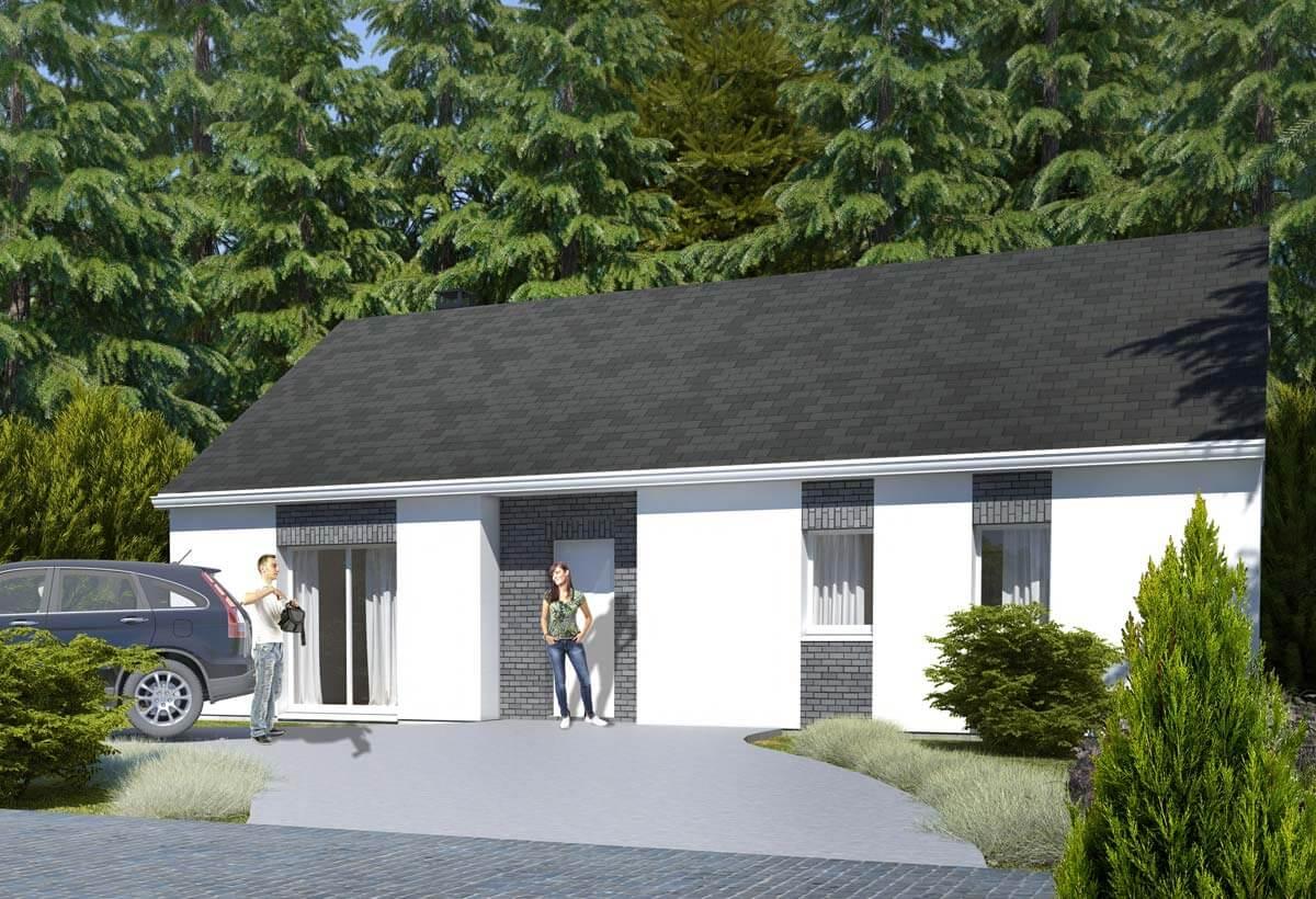 Plan maison 3 chambres Lesmaisons.com 77
