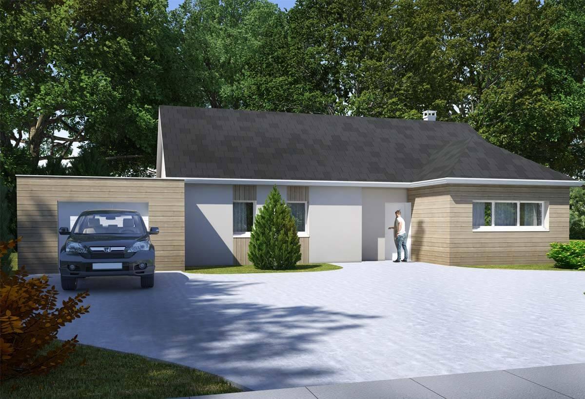 Rendu 1 de la maison individuelle Habitat Concept 78