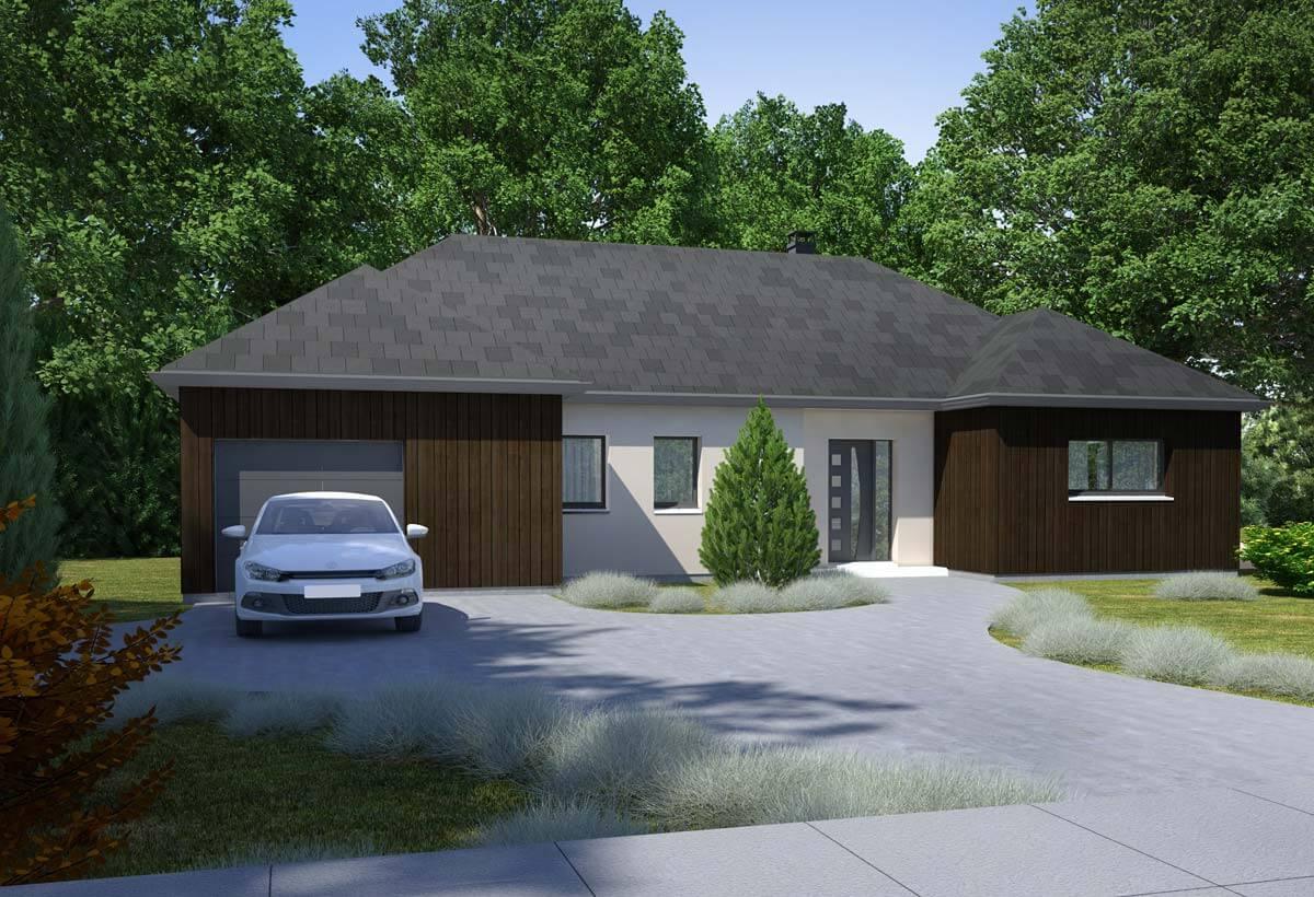 Plan maison individuelle 5 chambres 79 habitat concept for Maison modele plain pied