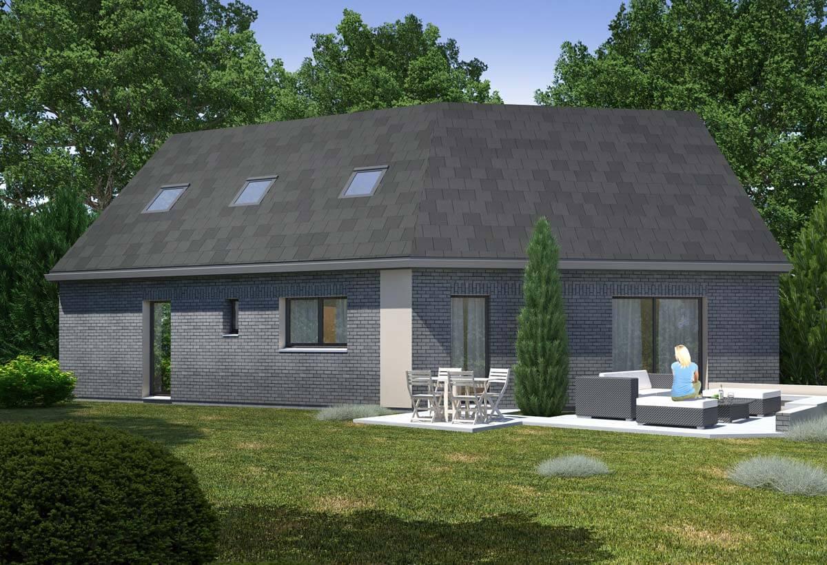 Rendu 2 de la maison individuelle Habitat Concept 80