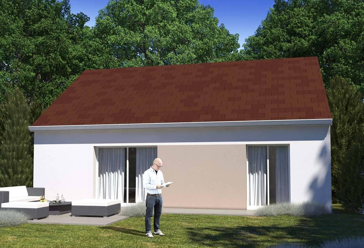 Plan maison 2 chambres HC 92