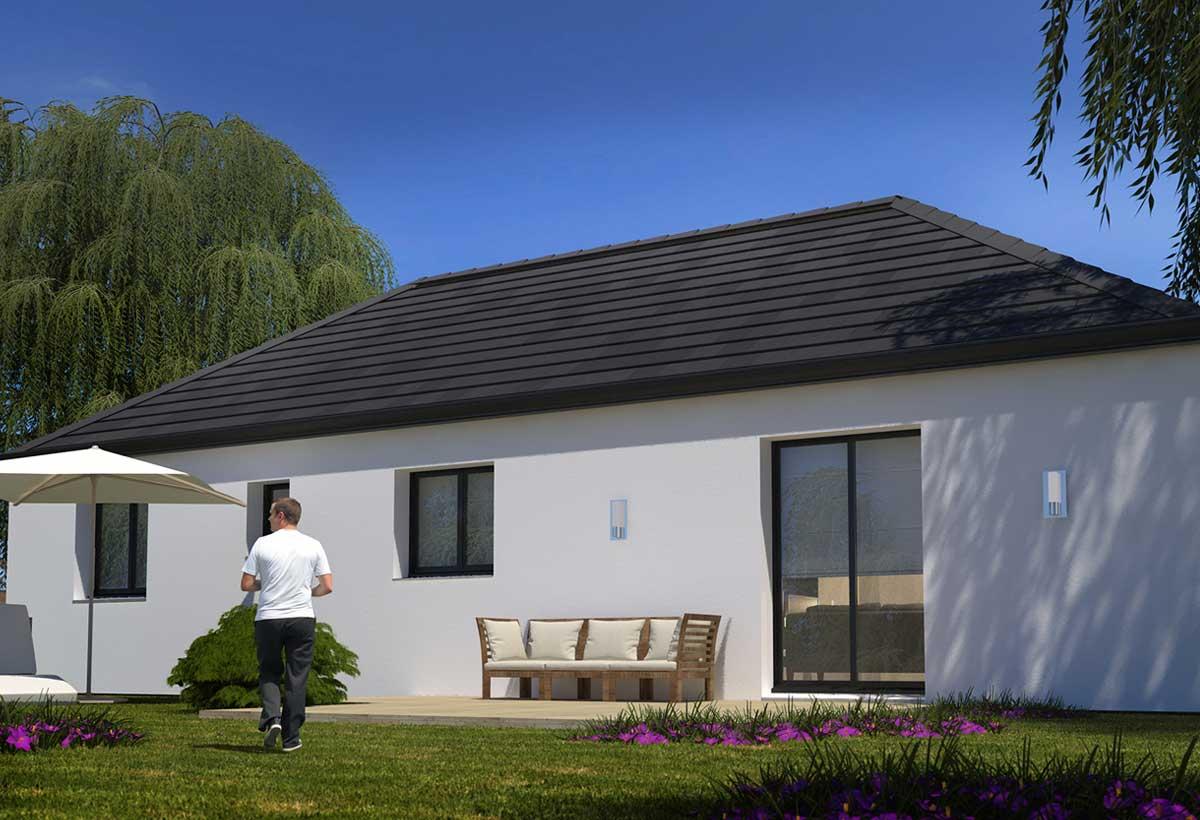 Rendu 2 de la maison individuelle habitat concept 94