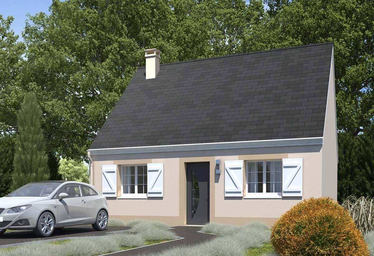 Rendu 1 de la maison individuelle Habitat Concept 96