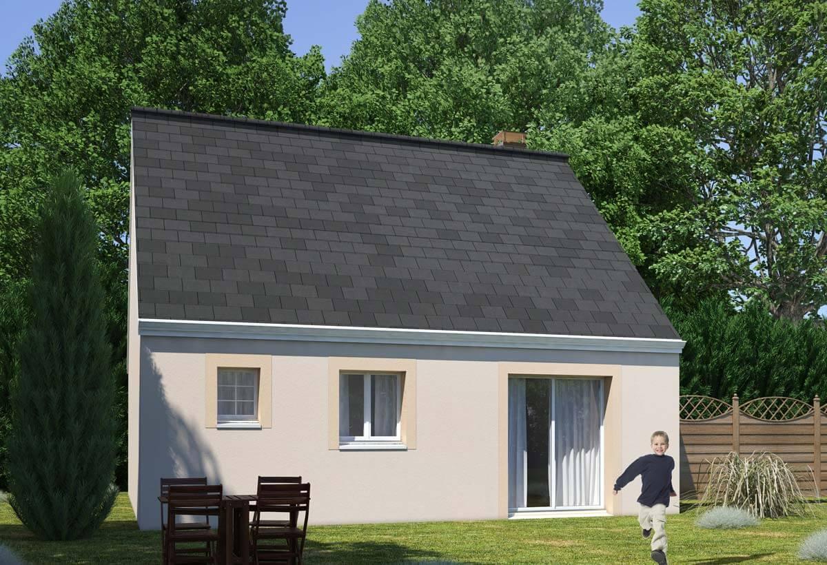 Plan maison individuelle 1 chambres 96 habitat concept for Maison individuelle