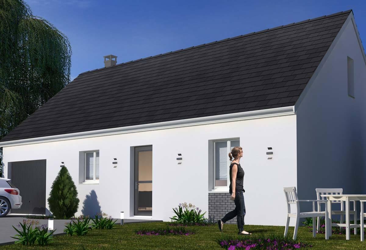 Rendu 1 de la maison individuelle Habitat Concept 97 Gi
