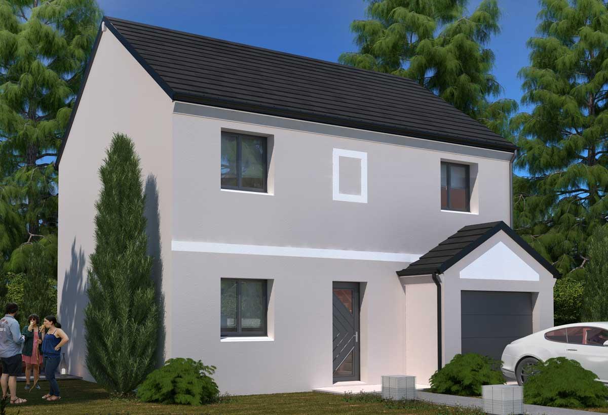 Plan maison individuelle 4 chambres 99 habitat concept for Modele de maison a etage