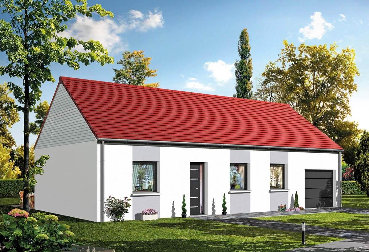 Plan maison 3 chambres HC baya