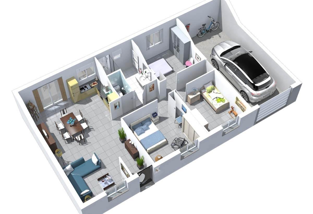 maison individuelle r sidence picarde baya r sidences picardes. Black Bedroom Furniture Sets. Home Design Ideas
