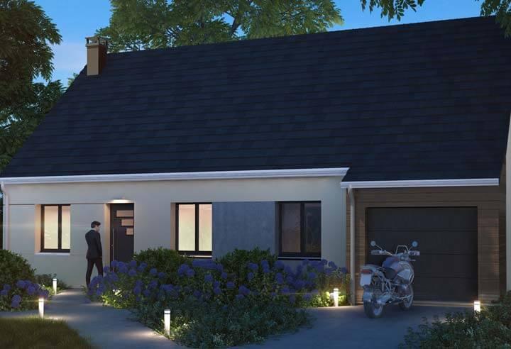 Plan maison 3 chambres Résidence Picarde 102 GI