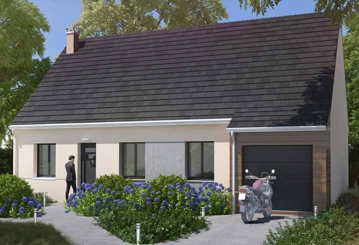 Plan maison 3 chambres Résidence Picarde 102