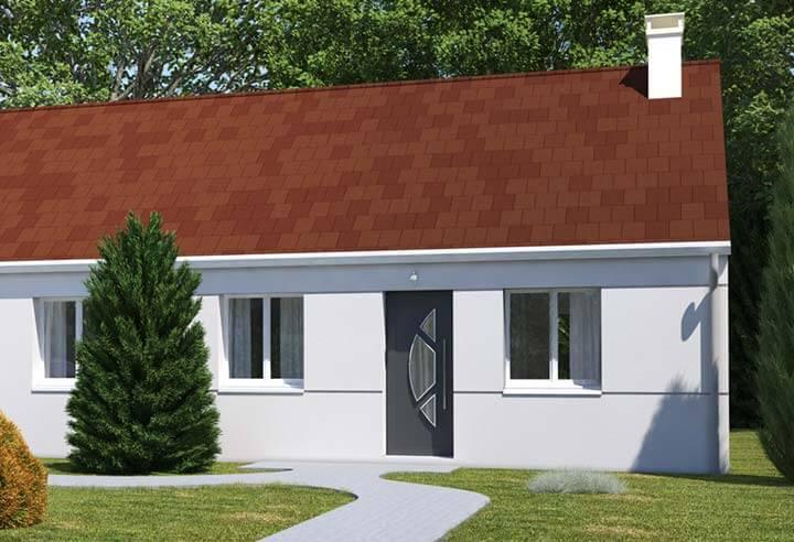 Plan maison 2 chambres Résidence Picarde 103