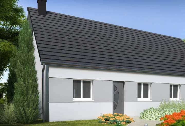 Modèle et plan de maison Habitat Concept n°104 H