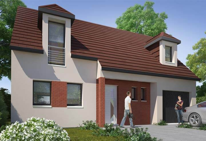 Plan maison 3 chambres HC 12