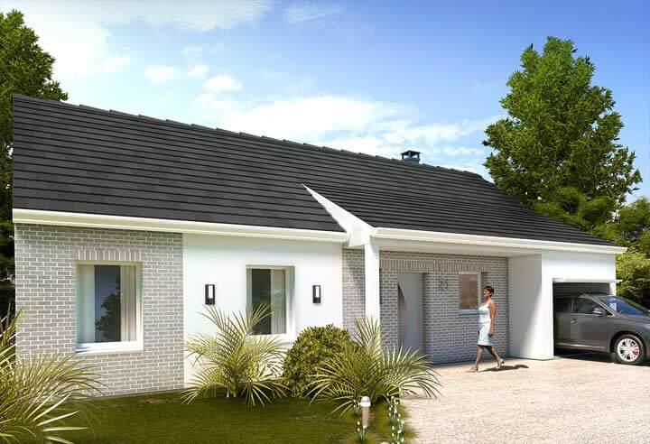 plan maison individuelle 3 chambres 21 habitat concept. Black Bedroom Furniture Sets. Home Design Ideas