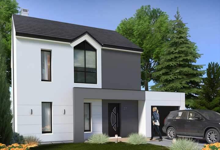 Plan maison 3 chambres Résidence Picarde 27