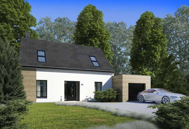 Modèle et plan de maison Habitat Concept n°61
