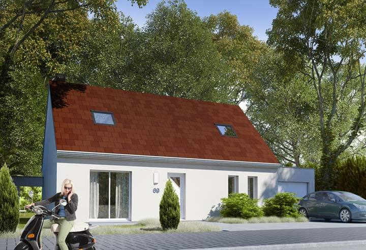 Plan maison 3 chambres Résidence Picarde 69