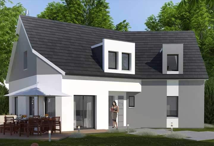 Plan maison 4 chambres HC 71