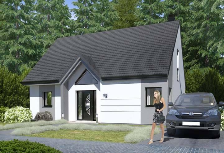Plan maison 3 chambres HC 72