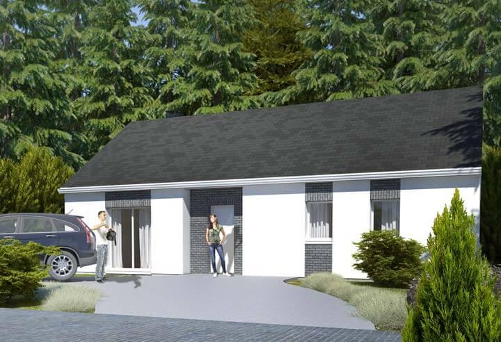 Plan maison 3 chambres HC 77
