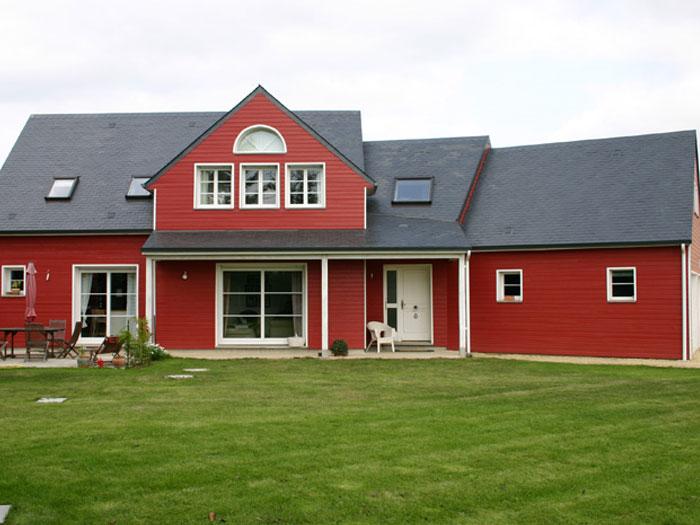 Ma maison en bois maison de cdre oriane maison ossature for Recherche maison a construire