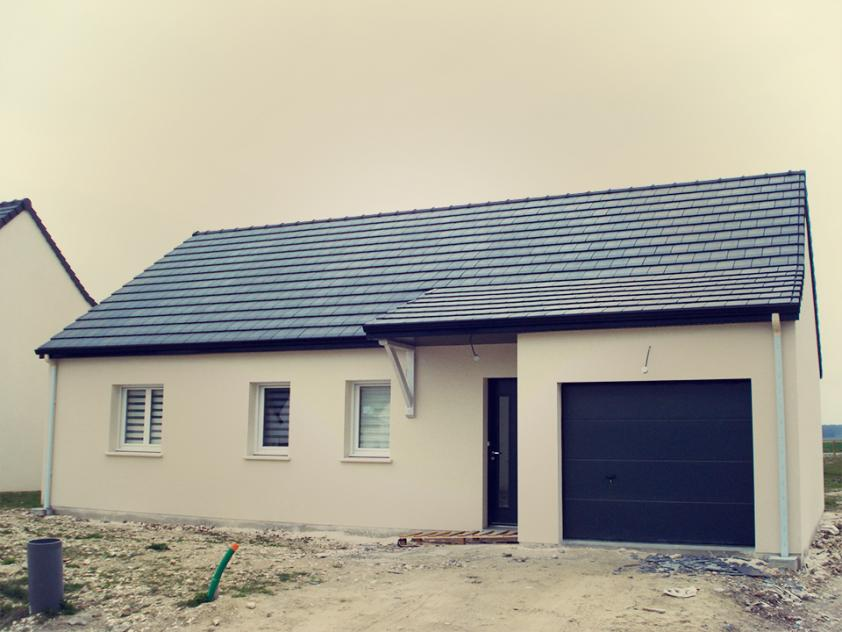 Construction d'une maison à Ailly-sur-somme (80) en Février 2016