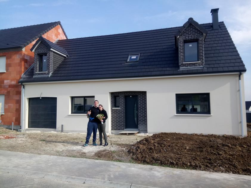 Construction d'une maison à Bertangles (80) en Avril 2019