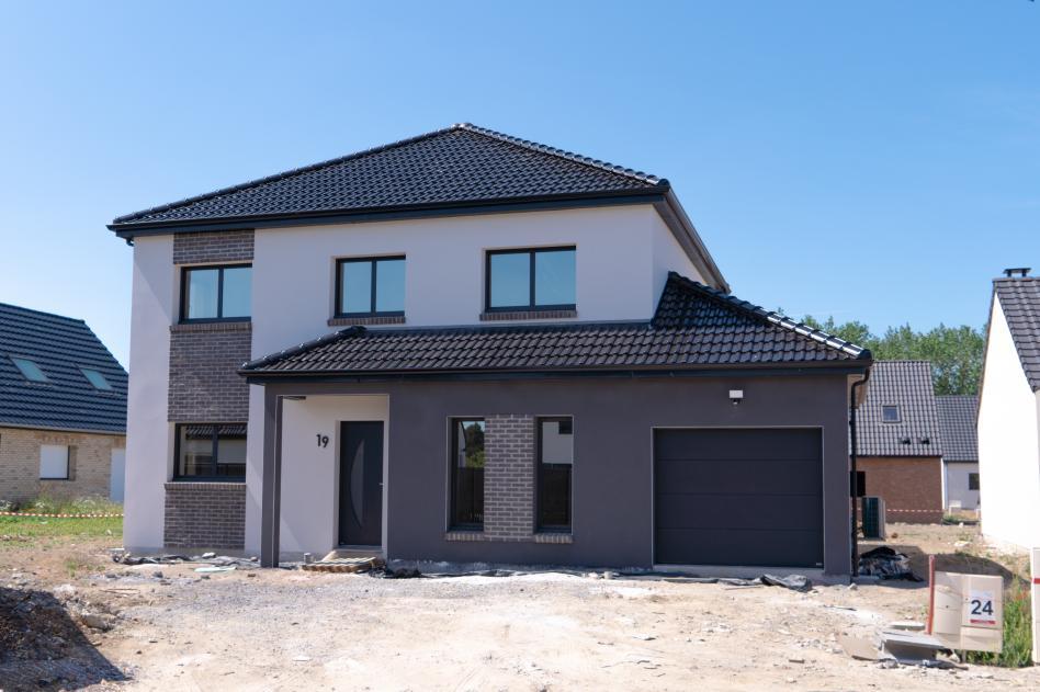 Construction d'une maison à Cantin (59) en Juillet 2020