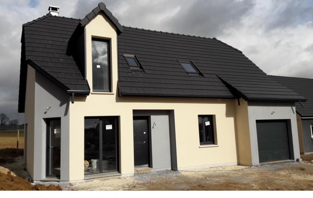 Construction d'une maison à Fresquiennes (76) en Avril 2017