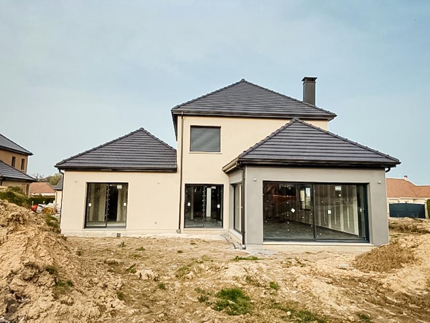 Construction d'une maison à Gommerville (76) en Avril 2021