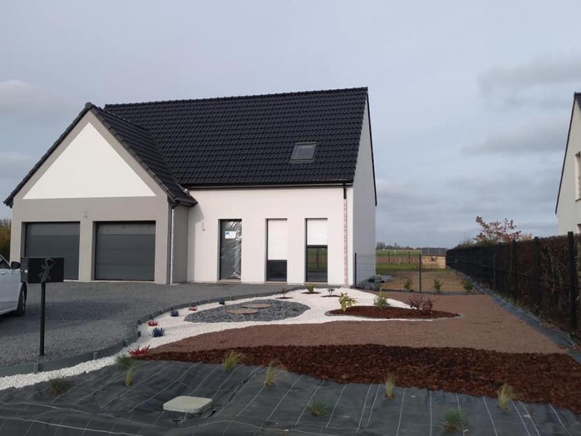 Construction d'une maison à Gonnehem (62) en Décembre 2020