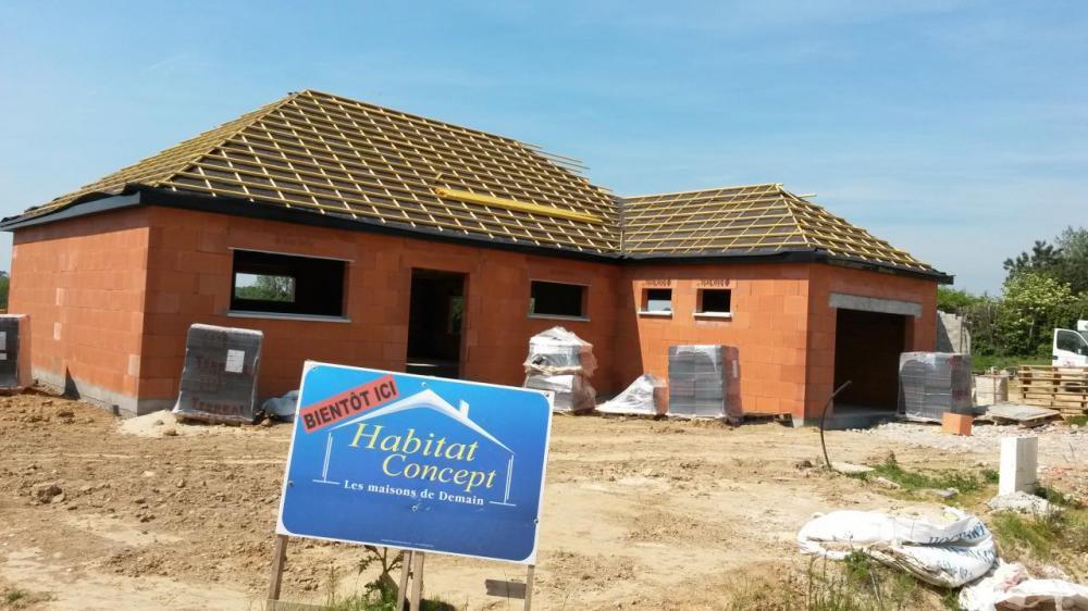 Construction d'une maison à La Capelle-les-boulogne (62) en Février 2016