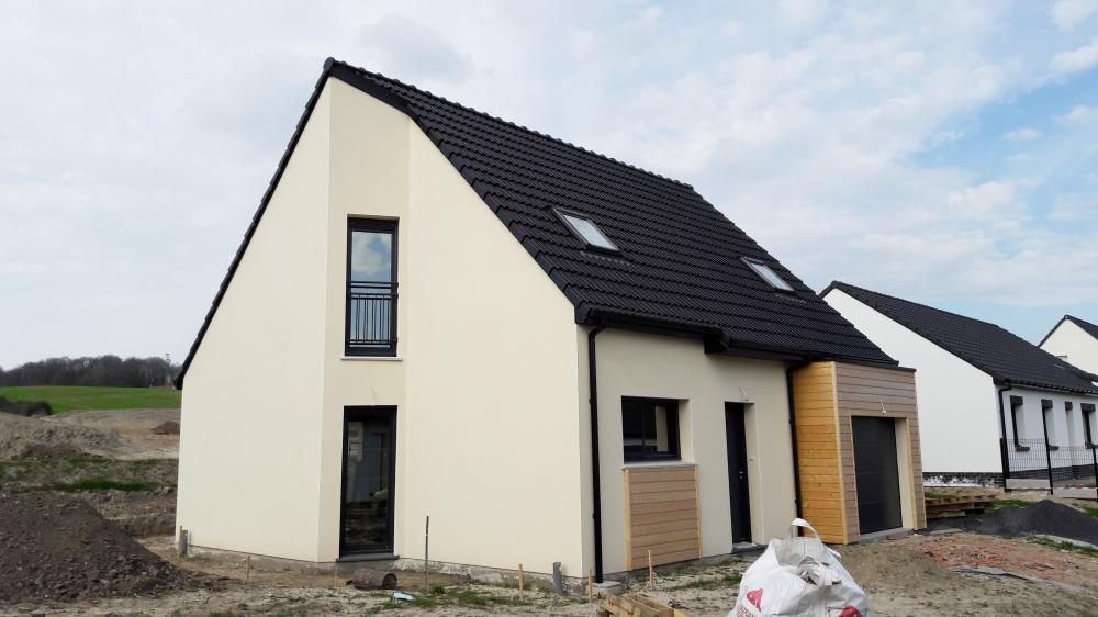 Construction d'une maison à Lapugnoy (62) en Décembre 2016