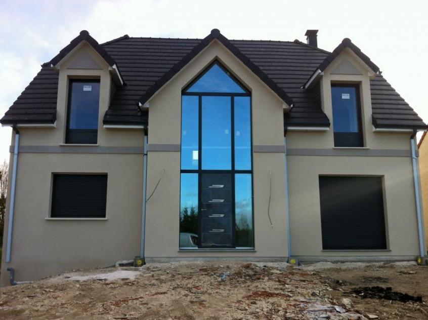 Construction d'une maison à Mesnil-bruntel (80) en Mars 2016
