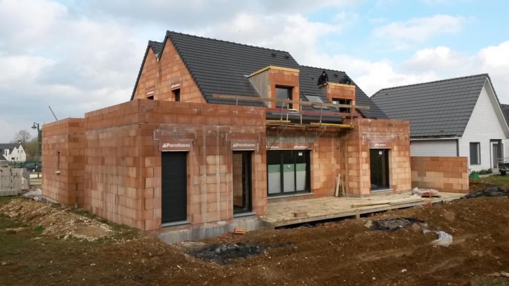 Construction d'une maison à Saint-fuscien (80) en Septembre 2015