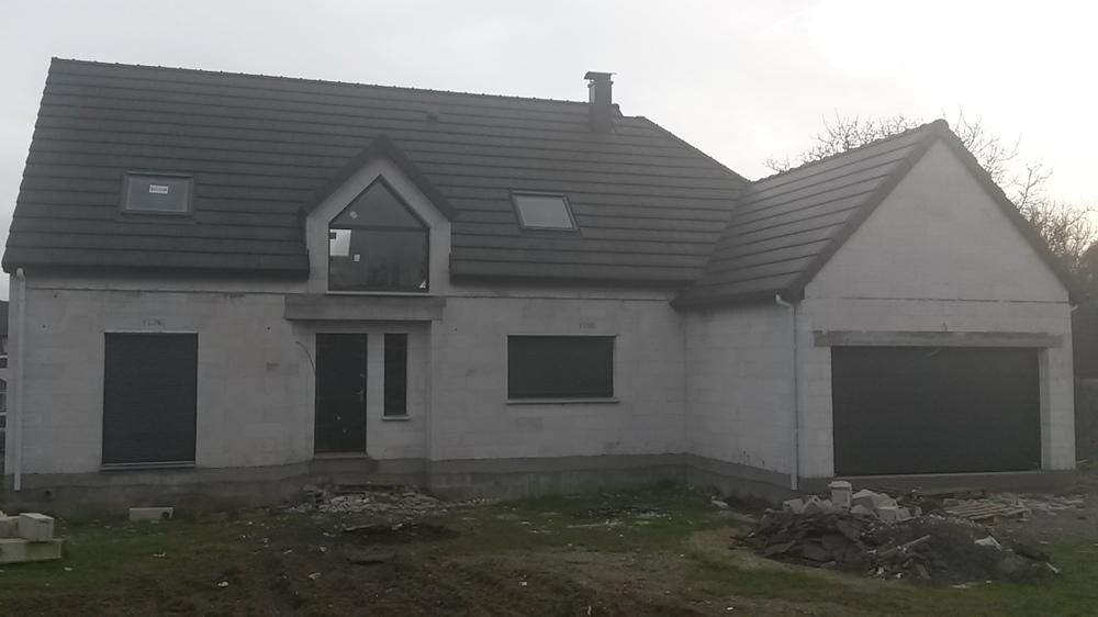 Construction d'une maison à Saveuse (80) en Septembre 2015