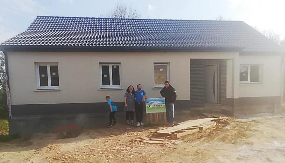 Construction d'une maison à Vendhuile (02) en Avril 2019